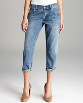 Jeans - Skyler Low Rise Loose Crop in Summit