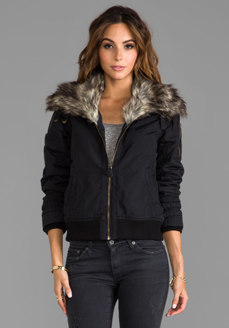 Spiewak Madison Flight Jacket with Faux Fur Trim