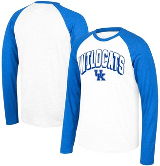 Men's Top of the World White/Royal Kentucky Wildcats Heritage Raglan Long Sleeve T-Shirt