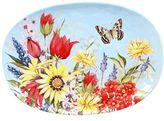 Certified International Floral Bouquet Oval Serving Platter