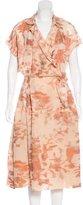 Bottega Veneta Silk Jacquard Shirtdress