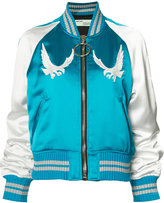Off-White bird embroidered bomber jacket - women - Viscose/Polyester - XS