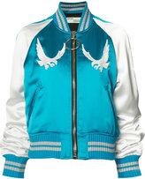 Off-White bird embroidered bomber jacket