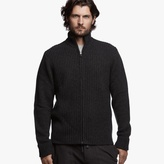 James Perse Cashmere Funnel Neck Cardigan