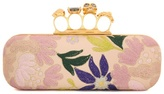 Alexander McQueen Embroidered leather knuckle clutch