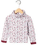 Jacadi Girls' Floral Turtleneck Top