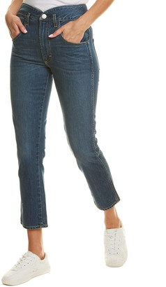 Amo Tulip Dark Vintage High-Rise Slim Fit Straight Leg Jean