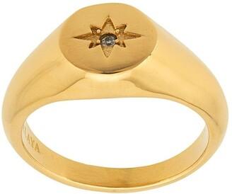 Nialaya Jewelry Skyfall Mini Starburst ring
