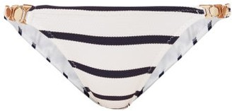 Melissa Odabash Athens Striped Chain-link Strap Bikini Briefs - Navy Stripe