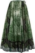 Etro Paisley-print cotton-blend full skirt