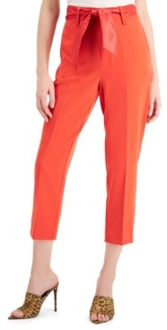 GUESS Hope Cotton Belted Cropped Pants