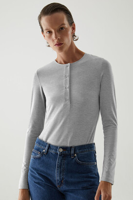 Cos Cotton Henley-Style Body