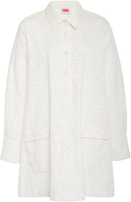 Solid & Striped Eyelet Shirt Dress