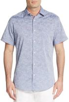 Saks Fifth Avenue Regular-Fit Tonal Floral-Print Cotton Sportshirt