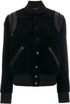 Saint Laurent classic bomber jacket - women - Cotton/Lamb Skin/Polyamide/Wool - 34