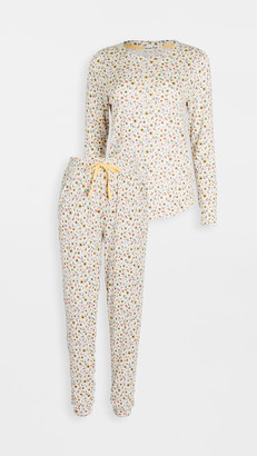 Emerson Road Whisperluxe Crew Neck with Jogger Pajama Set