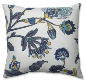 "Pillow Perfect Auretta Peacock 18"" Throw Pillow"