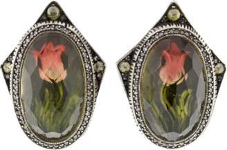 Sevan Biçakci Carved Tulip Diamond Stud Earrings