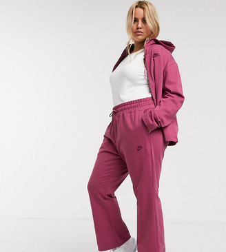 Nike Plus premium high waist wide leg joggers in purple