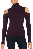T Tahari Flynn Turtleneck Cold Shoulder Sweater