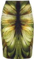 McQ by Alexander McQueen dragonfly print pencil skirt