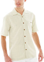 JCPenney Island Shores Short-Sleeve Textured Plaid Shirt