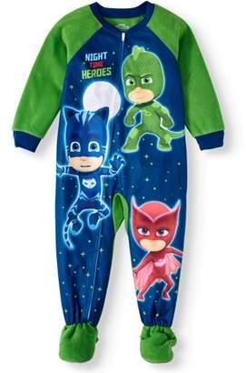Pj Masks Toddler Boy Microfleece Blanket Sleeper Pajamas