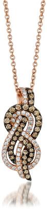 LeVian Le Vian 14K Strawberry Gold 0.46 Ct. Tw. Diamond Pendant Necklace