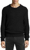 IRO Lukie Textured-Knit Crewneck Sweater, Black