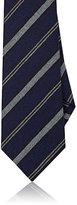 Isaia Men's Striped Wool-Silk Necktie-NAVY