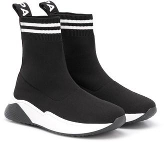 Balmain Kids High-Top Sock Trainers