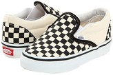 Vans Kids Classic Slip-On Core (Toddler) (Black and White Checker/White) Kids Shoes