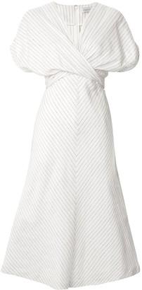 Rebecca Vallance Bellini striped wrap-style dress