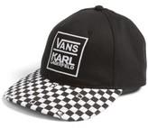 Vans Women's X Karl Lagerfeld Dugout Baseball Cap - Black