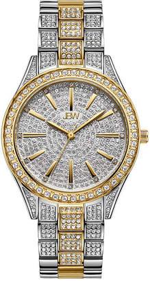 JBW Cristal 18K Gold Over Stainless Steel 1/8 CT. T.W. Genuine Diamond Bracelet Watch-J6383d