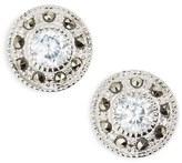 Women's Judith Jack Pave Stud Earrings - Marcasite