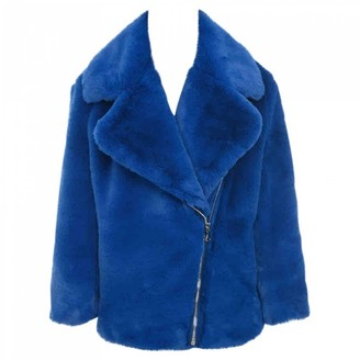 House Of CB Blue Faux fur Coats