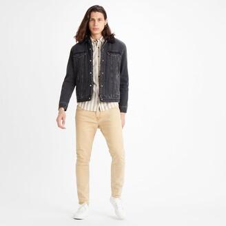 Levi's Trucker Sherpa Denim Jacket with Pockets and Faux Sheepskin Lining