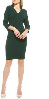 Alexia Admor Aria Fitted V-Neck Sheath Dress