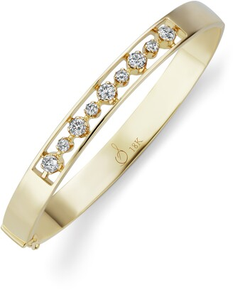 Sorellina Otto Diamond Hinge Bangle Bracelet