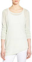 Eileen Fisher Organic Linen Blend Ballet Neck Tunic Sweater (Regular & Petite)