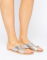 Boohoo Cross Strap Sliders