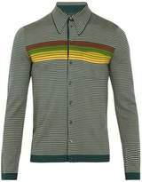 Prada Striped wool polo cardigan