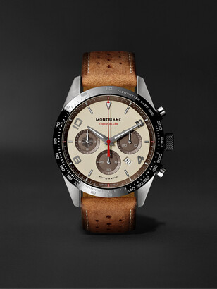 Montblanc Timewalker Limited Edition Automatic Chronograph 43mm Stainless Steel, Ceramic And Leather Watch, Ref. No. 118491