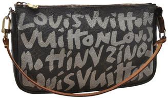 Louis Vuitton Black Cloth Clutch bags