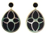 Ippolita 18K Carved Onyx and Abalone Teardrop Earrings w/ Tags
