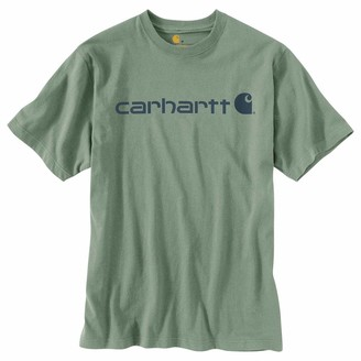 Carhartt Men's Signature Logo Short-Sleeve Midweight Jersey T-Shirt
