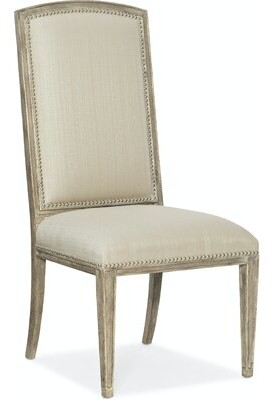Hooker Furniture Sanctuary 2 Solid Wood Side Chair in Cream (Set of 2