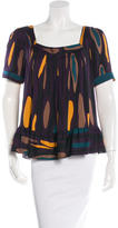 Diane von Furstenberg Silk Short Sleeve Top