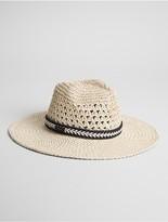 Calvin Klein Crochet Panama Hat